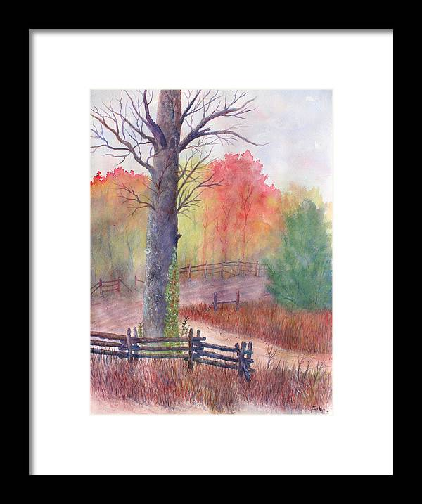 Fall Framed Print featuring the painting Joy of Fall by Ben Kiger