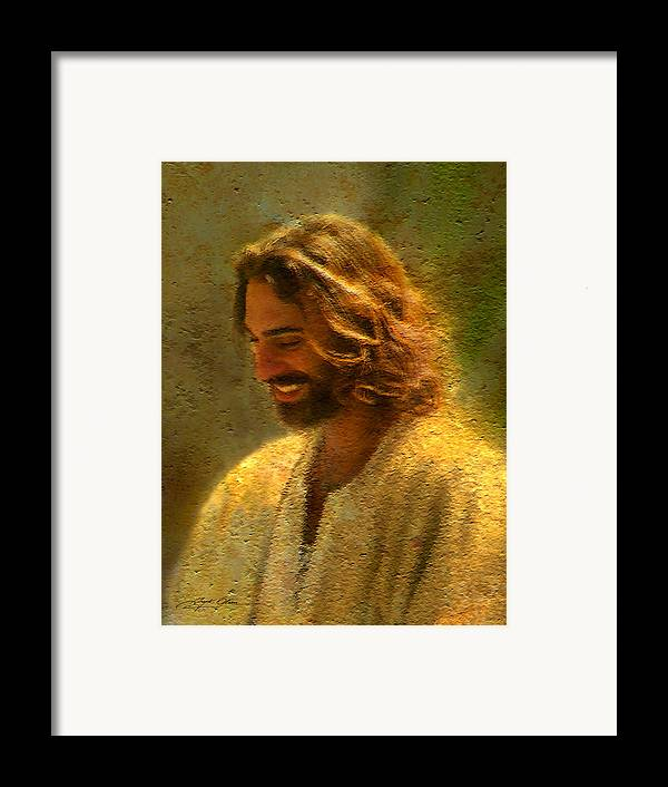 Jesus Framed Print featuring the painting Joy Of The Lord by Greg Olsen