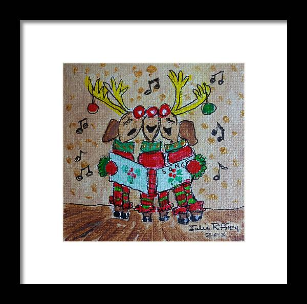 Christmas Framed Print featuring the painting Joy To The World by Julie Brugh Riffey