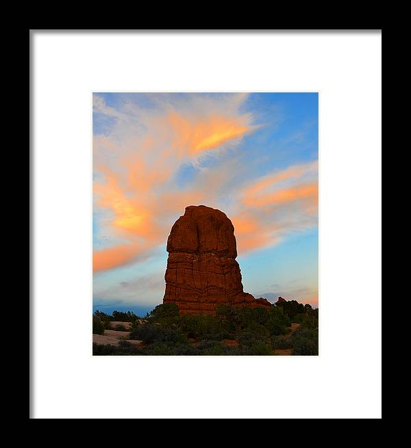 Lone Butte Framed Print featuring the photograph Lone Butte by David Lee Thompson