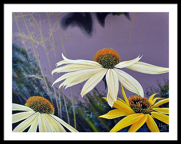 Botanical Framed Print featuring the painting Jubilant by Hunter Jay