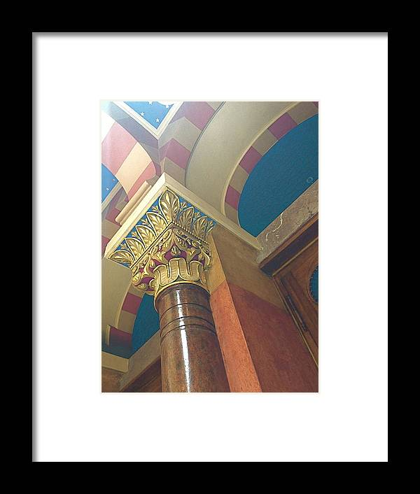 Color Framed Print featuring the photograph Jubilee Synagogue by Hannah Rose