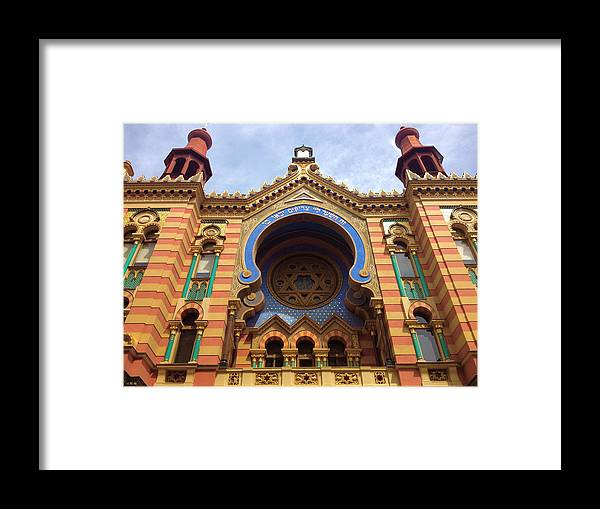 Color Framed Print featuring the photograph Jubilee Synagogue II by Hannah Rose