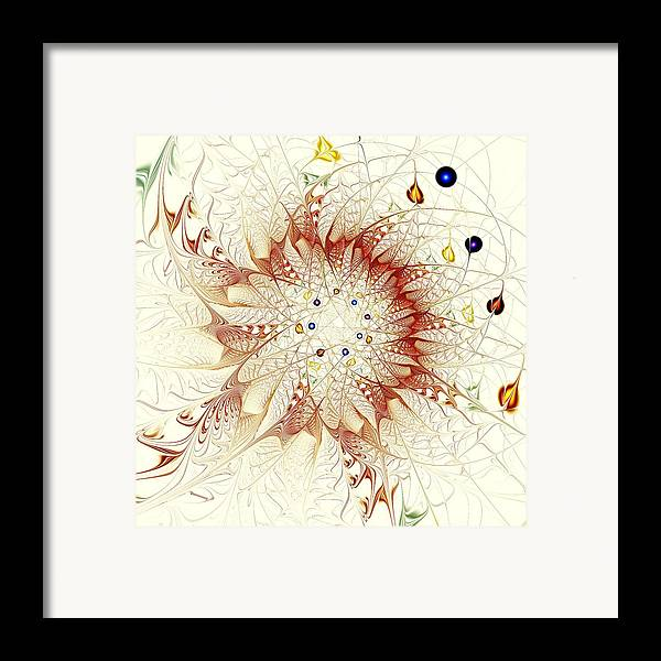 Malakhova Framed Print featuring the digital art Juggle by Anastasiya Malakhova