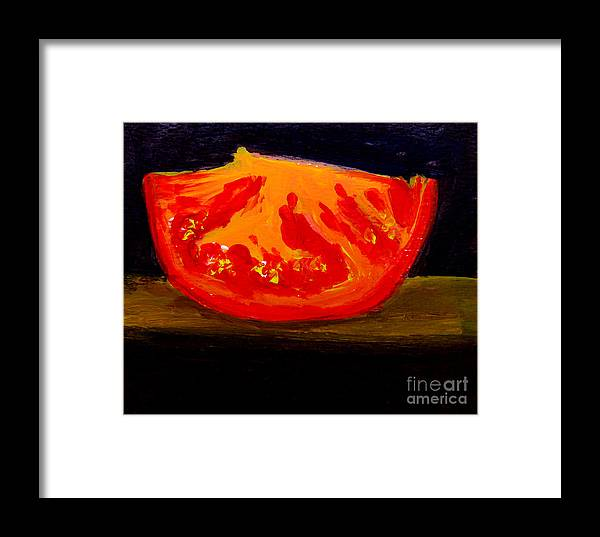 Tomato Framed Print featuring the painting Juicy Tomato Modern Art by Patricia Awapara