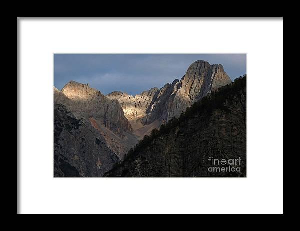Slovenia Framed Print featuring the photograph Julian Peaks - Sunburst by Phil Banks