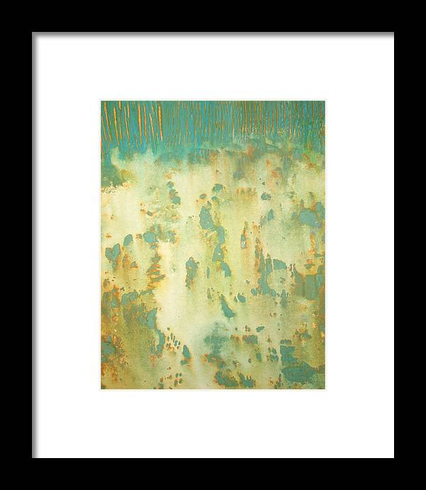 Abstract Framed Print featuring the painting July by Natalie Starnes