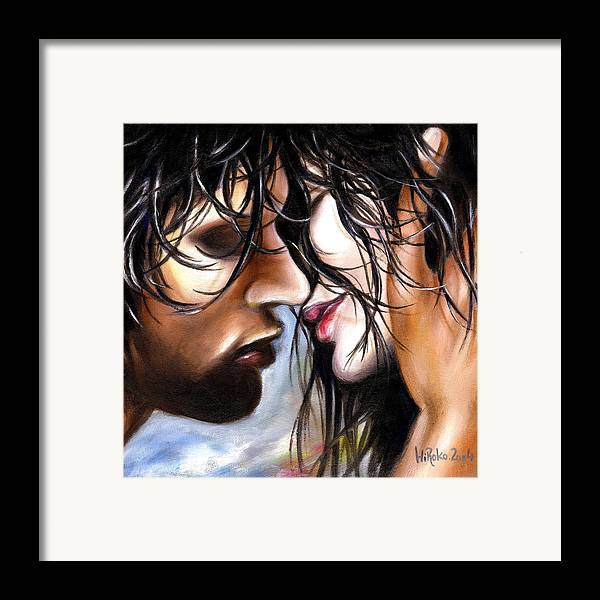 Lovers Framed Print featuring the painting June Breeze by Hiroko Sakai