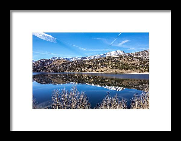 Landscape Framed Print featuring the photograph June Lake Reflections by Robert Aycock