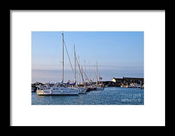 Lyme Regis Framed Print featuring the photograph June Morning - Lyme Regis Harbour by Susie Peek