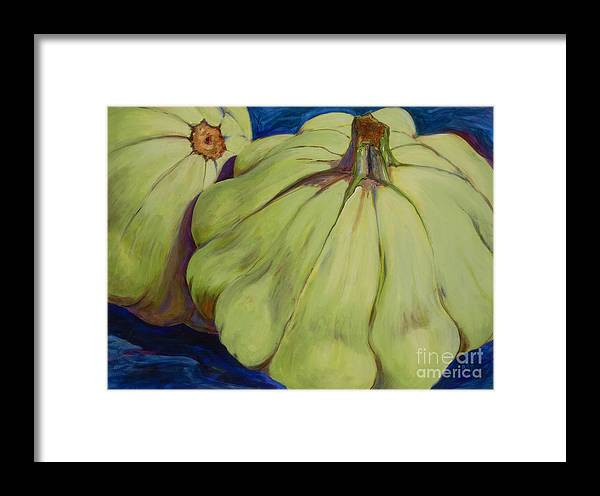 Vegetables Framed Print featuring the painting Junee's Squashes by Betsee Talavera