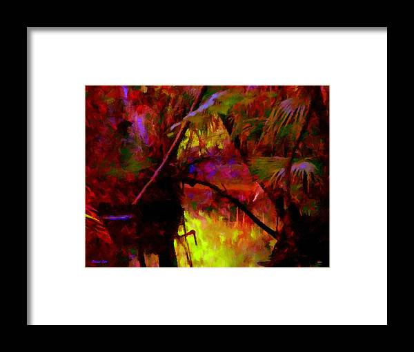 Jungle Framed Print featuring the photograph Jungle Fire by Buzz Coe