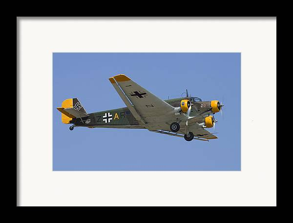 3scape Photos Framed Print featuring the photograph Junkers Ju-52 by Adam Romanowicz