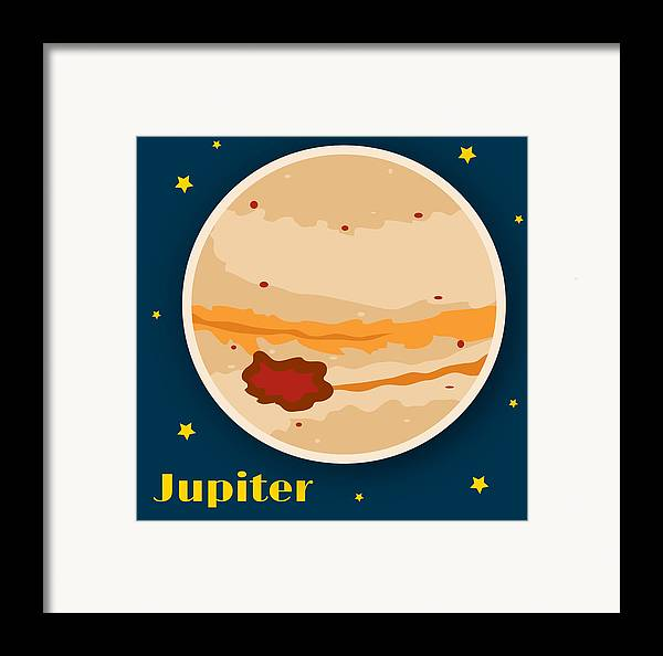 Jupiter Framed Print featuring the drawing Jupiter by Christy Beckwith