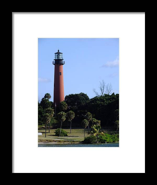 Florida Framed Print featuring the photograph Jupiter Inlet Lighthouse by Peggy King
