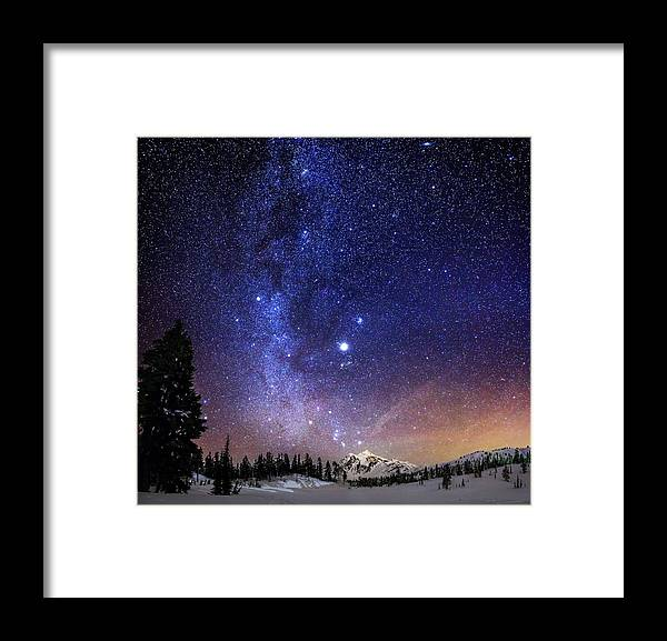 Milky Way Framed Print featuring the photograph Jupiter Rising by Alexis Birkill