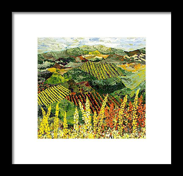 Landscape Framed Print featuring the painting Just A Little Valley by Allan P Friedlander
