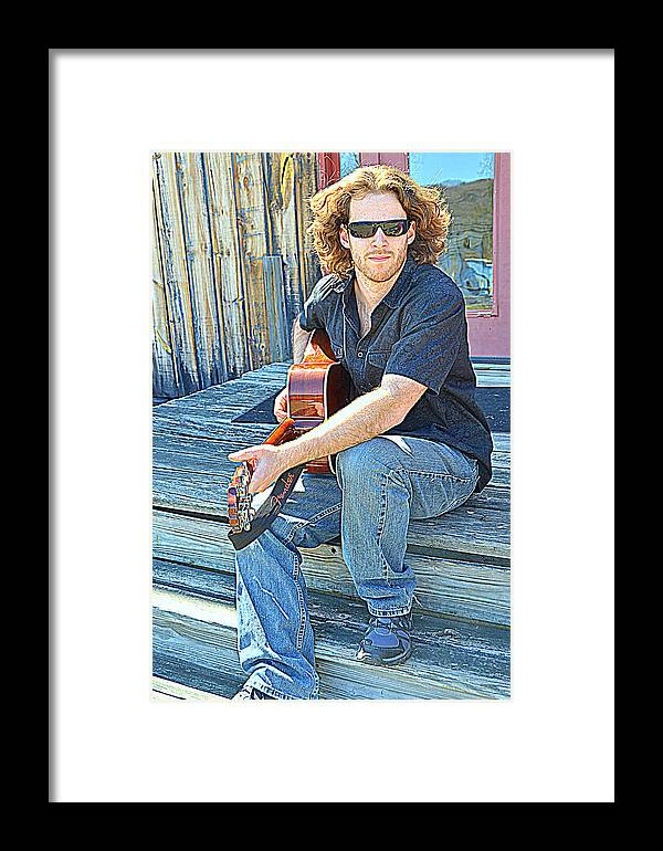 Music Framed Print featuring the digital art Just A Singer by Sue Rosen