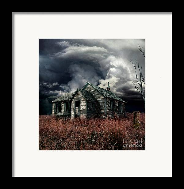 haunted House Framed Print featuring the digital art Just Before The Storm by Aimelle