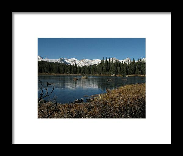 Mountains Framed Print featuring the photograph Just Breathe by Vicki Benton