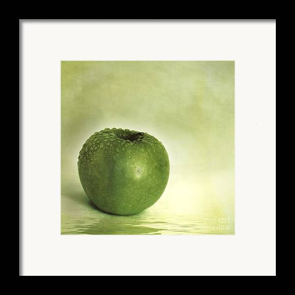 Apple Framed Print featuring the photograph Just Green by Priska Wettstein