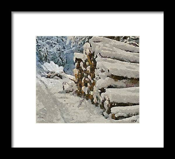 Firewood Framed Print featuring the painting Just In Case by Dragica Micki Fortuna