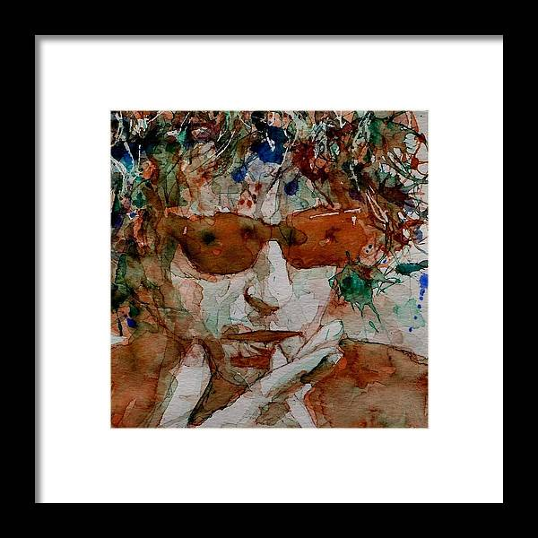 Bob Dylan Framed Print featuring the painting Just Like A Woman by Paul Lovering
