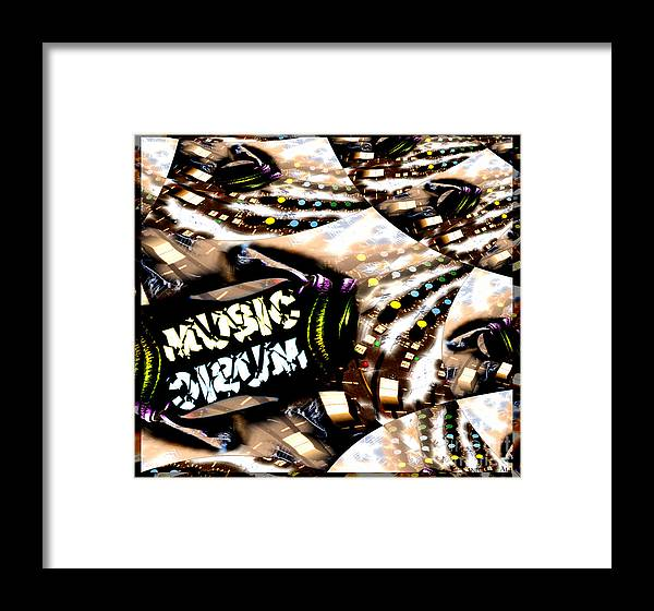 Music Framed Print featuring the digital art Just Music by Kandayia Ali