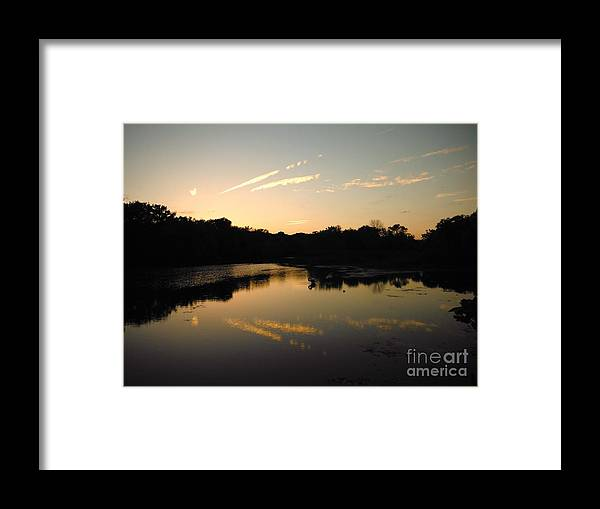 Sun Framed Print featuring the photograph Just Set by Britta Havens