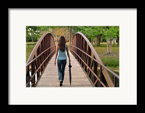 Walk Framed Print featuring the photograph Just Walk Away Renee by Laura Fasulo