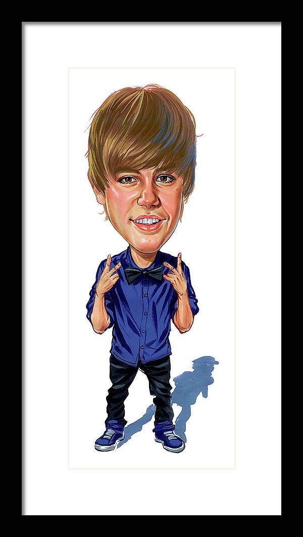 Justin Bieber Framed Print by Art