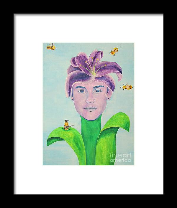 Justin Bieber Painting Framed Print by Jeepee Aero