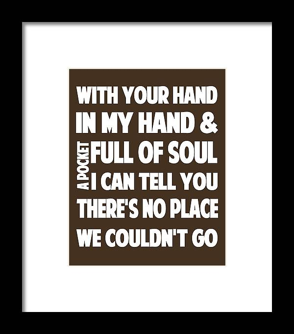 Justin Timberlake Mirrors Lyrics Framed Print by Redlime Art