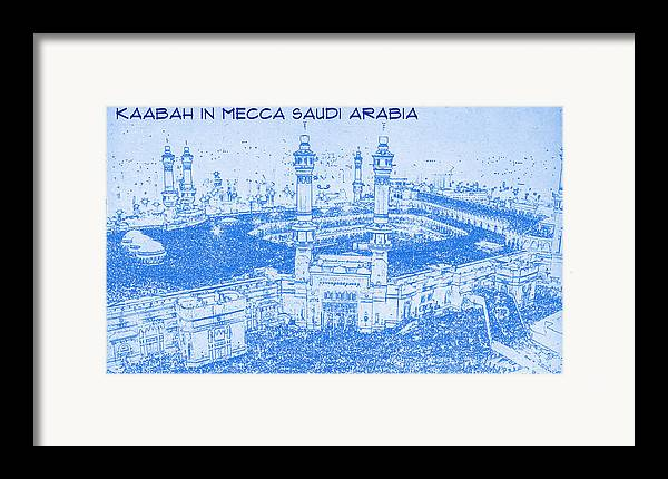 Kaabah in mecca saudi arabia blueprint drawing framed print by kaabah in mecca saudi arabia blueprint drawing framed print featuring the digital art kaabah in malvernweather Image collections