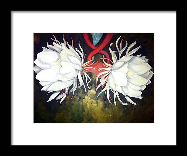 Kadupul Framed Print featuring the painting Kadupul by Stephanie LeVasseur