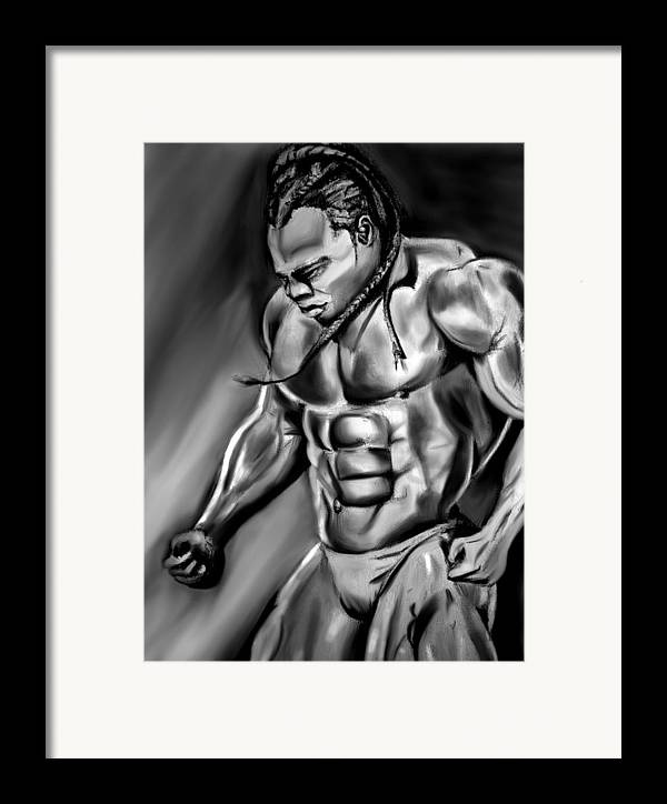 Kai greene framed print by michelle beaulieu for Kai greene painting