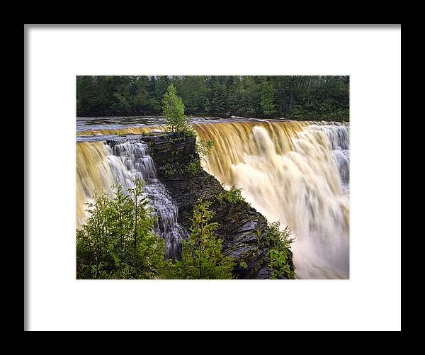 Art Framed Print featuring the photograph Kakabeka Falls On The Kaministiquia River by Randall Nyhof