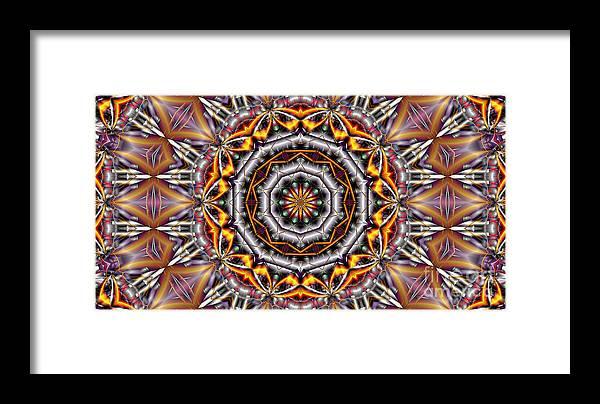 Kaleidoscope Framed Print featuring the digital art Kaleidoscope 41 by Ron Bissett