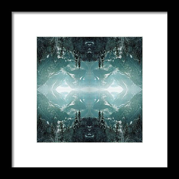 Scenics Framed Print featuring the photograph Kaleidoscope Snowy Trees In Mountains by Silvia Otte