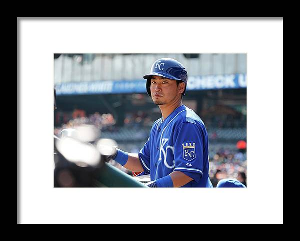 American League Baseball Framed Print featuring the photograph Kansas City Royals V Detroit Tigers by Gregory Shamus