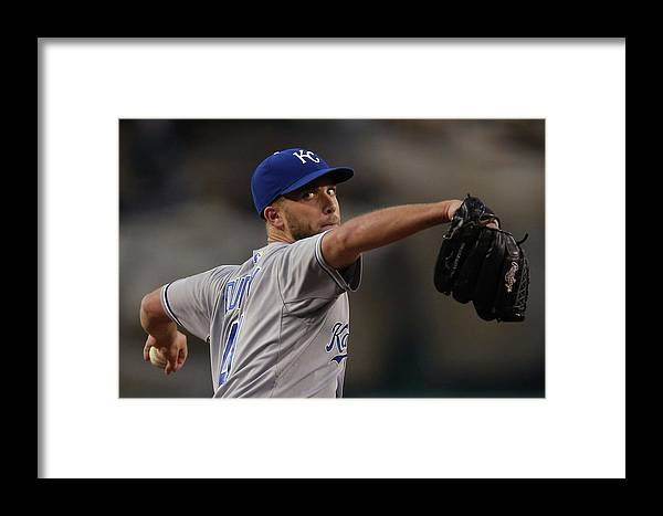 Second Inning Framed Print featuring the photograph Kansas City Royals V Los Angeles Angels by Jeff Gross