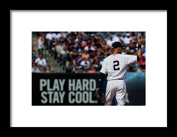 People Framed Print featuring the photograph Kansas City Royals V New York Yankees by Elsa