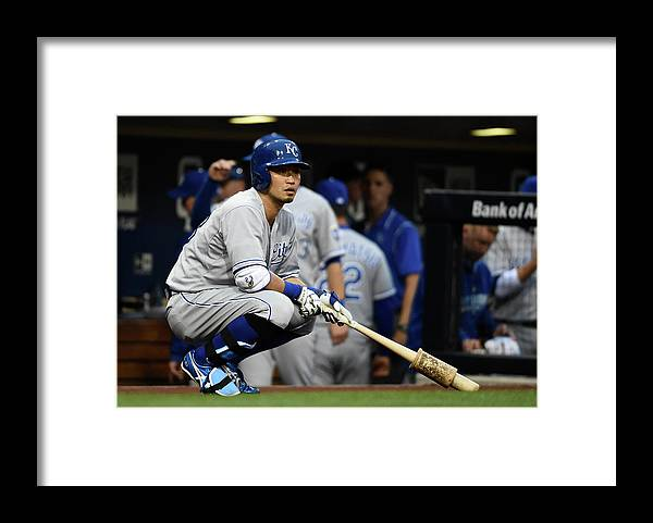 Only Japanese Framed Print featuring the photograph Kansas City Royals V San Diego Padres by Denis Poroy