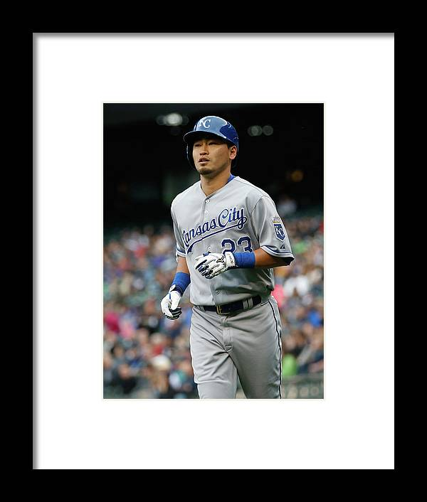 American League Baseball Framed Print featuring the photograph Kansas City Royals V Seattle Mariners by Otto Greule Jr