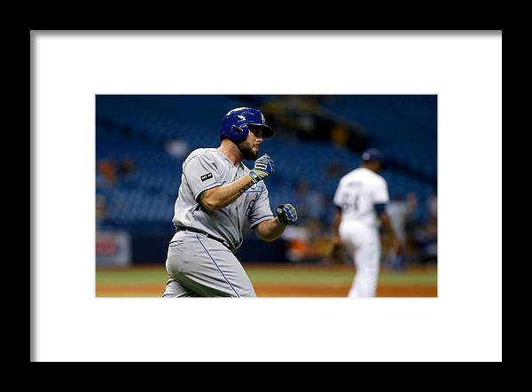 Three Quarter Length Framed Print featuring the photograph Kansas City Royals v Tampa Bay Rays by Brian Blanco