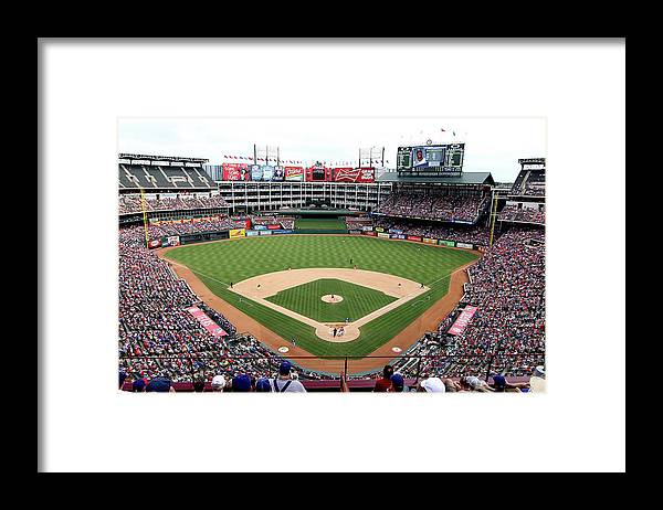 American League Baseball Framed Print featuring the photograph Kansas City Royals V Texas Rangers by Rick Yeatts