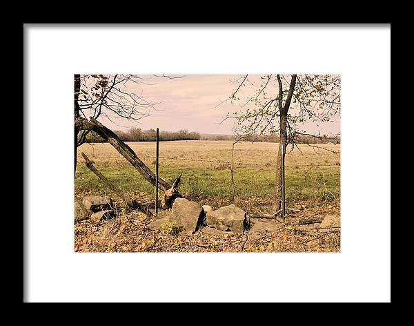 Kansas Prairie Framed Print featuring the photograph Kansas Prairie by SC Pierce