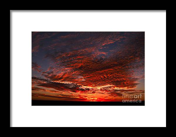Landscape Framed Print featuring the photograph Kansas Prairie Sunset by RT Phillips