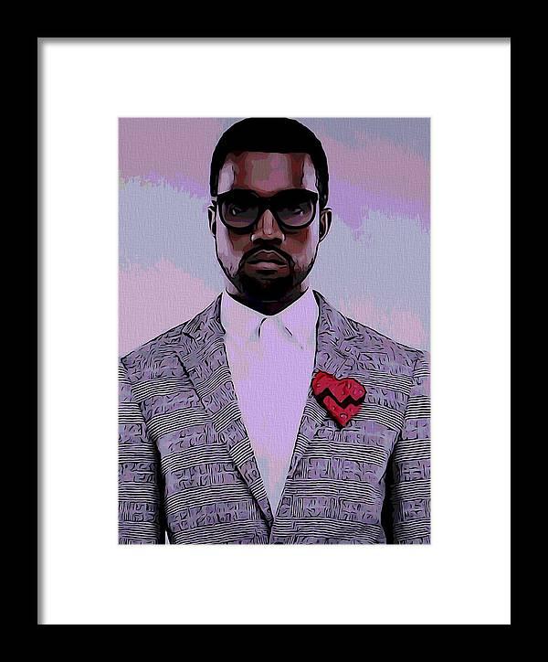 99465045fe867 Kanye West Poster Framed Print
