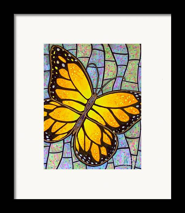 Butterflies Framed Print featuring the painting Karens Butterfly by Jim Harris